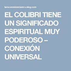 EL COLIBRI TIENE UN SIGNIFICADO ESPIRITUAL MUY PODEROSO – CONEXIÓN UNIVERSAL