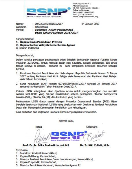Download lengkap Kisi-Kisi Ujian Sekolah Berstandar Nasional SMA, SMAK, SMK, SMP, SMTK Tahun 2017