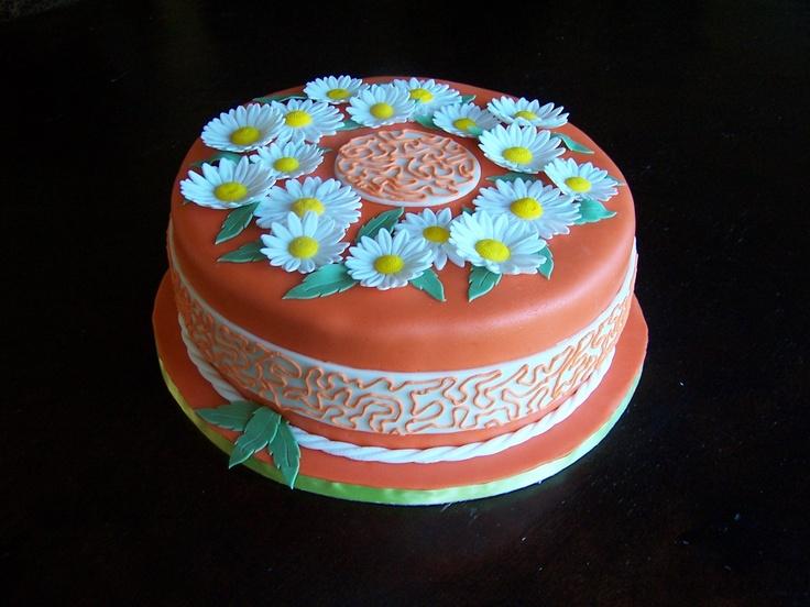 fondant torte mit margeriten fondant cake with daisies meine torten my cakes pinterest. Black Bedroom Furniture Sets. Home Design Ideas