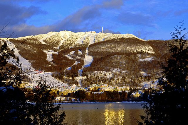 A wonderful photo of the Mont Tremblant at dusk