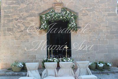 Vista general de la puerta de la Ermita. Mallorca. Weddings in Spain. www.eljardindemam... Facebook: www.facebook.com/... Blog: eljardindemamaana