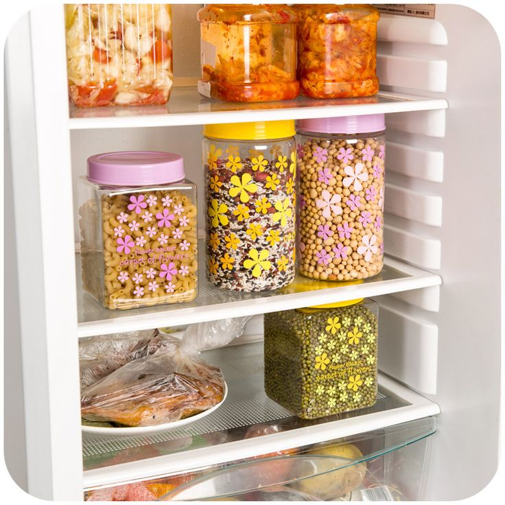 Plastic storage jar vanzlife printing kitchen snack debris fresh food storage box transparent sealed cans