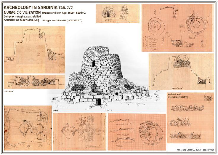 Scheda archeologica del Nuraghe di Santa Barbara, Macomer Nuoro Sardinien made by francesco carta
