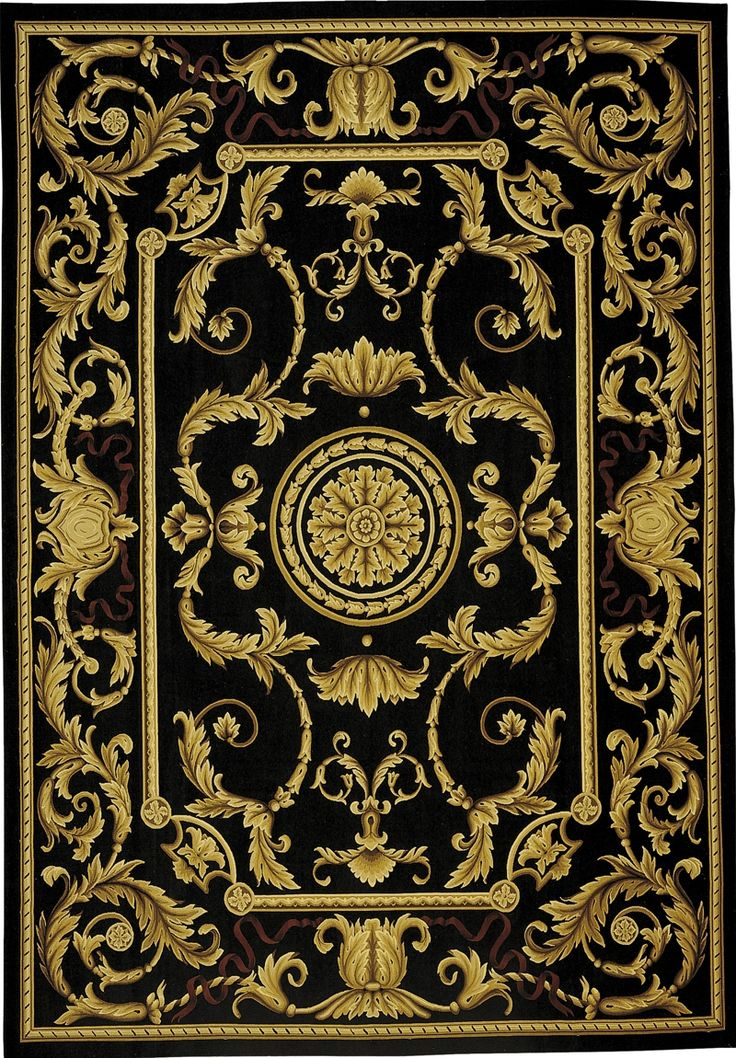 Refine A Room With Black And Gold French Aubusson Rug