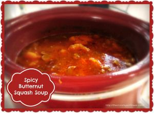 Spicy Butternut Squash Soup - A hearty way to warm up in cool weather!