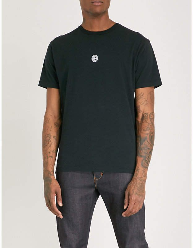 premium selection new high the latest Stone Island Logo-print cotton-jersey T-shirt | Mens tops, T ...