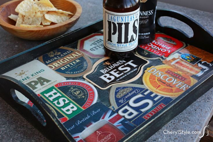 DIY beer coaster #tray – the perfect gift for any beer lover! | instructions on CherylStyle.com