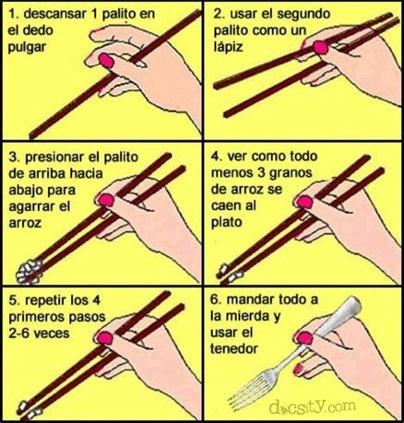 La verdad sobre los palillos chinos. Donde esté un tenedor...