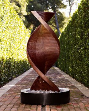 Twisted Copper Fountain   Modern   Outdoor Fountains   Neiman Marcus · Garden  FountainsWater ...