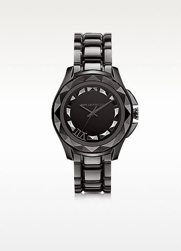 KARL LAGERFELD KARL 7 43.5 MM GUNMETAL IP STAINLESS STEEL UNISEX WATCH. #karllagerfeld #karl 7 43.5 mm gunmetal ip stainless steel unisex
