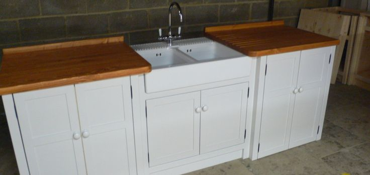 Double Sink And Double Appliance Cupboard Too! This Belfast Sink Unit Has  Been Painted In