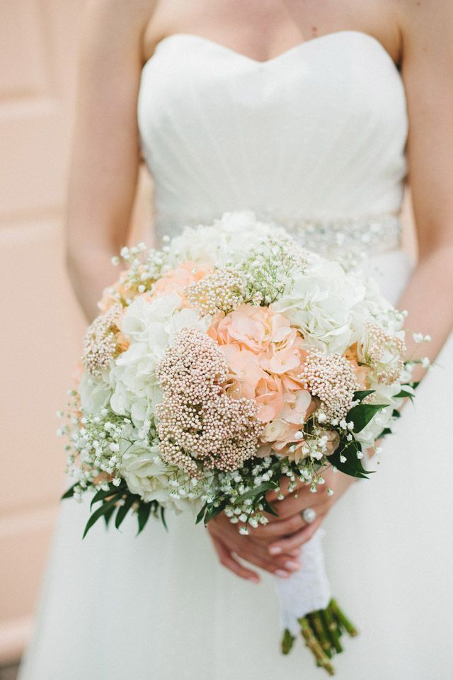Tiffanee + JT: A Lovely Peach and Navy Summer wedding