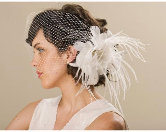 Birdcage Cly Chic Wedding Hairstyle Accessories Vintage By Erica Elizabeth