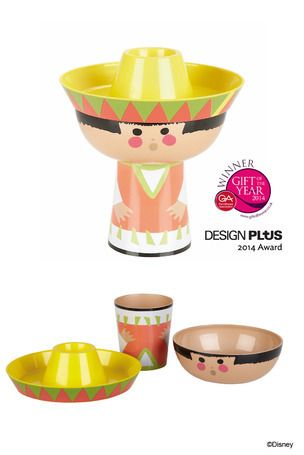 #Mexican Girl - PLA Eco #MealSet  £22.50    In 1964, Walt Disney debuted the ride It's a Small World at the World's Fair in New York. It was so successful, Walt re-opened it at Disneyland in 1966. Walt Disney commissioned the talented and inspired illustrator Mary Blair to craft It's a Small World.