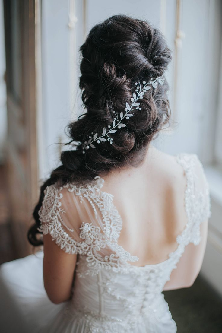 Excited to share the latest addition to my #etsy shop: Hairpiece for Bride - Wedding Hair Accessory - Leaf Wreath hair vine - Silver and White / Ivory with leaves Hair accessory headpiece