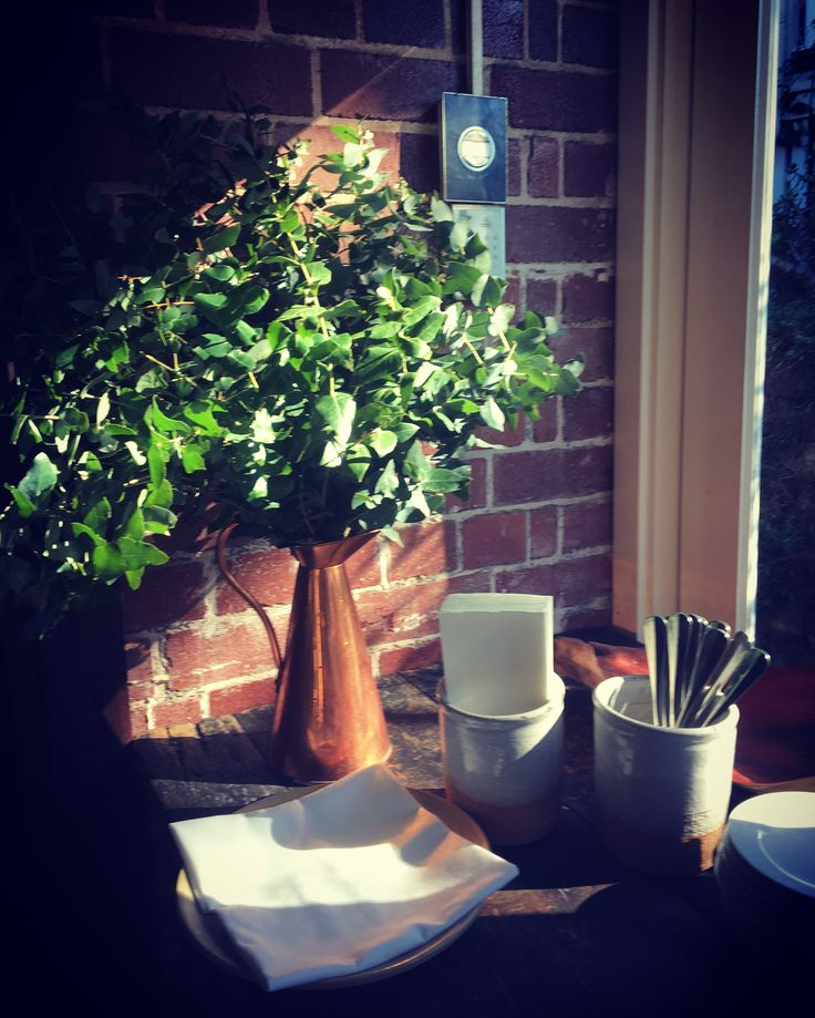 Rustic green arrangement for a sunny spot at Harvest Newrybar #style #greenbeauty #byronbaywedding