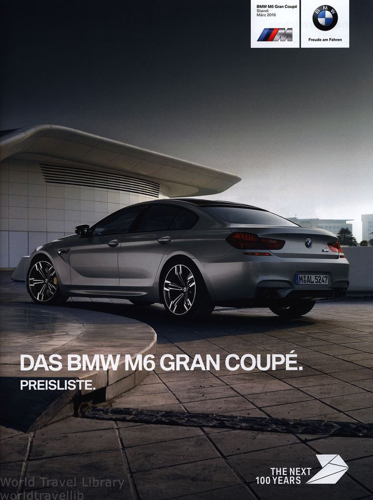 https://flic.kr/p/SLqrPd | BMW M6. Gran Coupé. Preisliste. (Daten Facts)  2016
