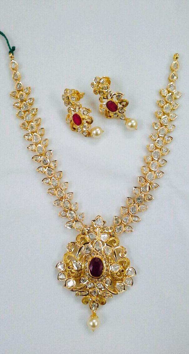 Uncut diamond pachi set