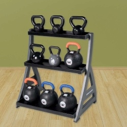 Racks,Holders & Storage:  Studio Premium Kettlebell Rack  www.BeBodySmart.com