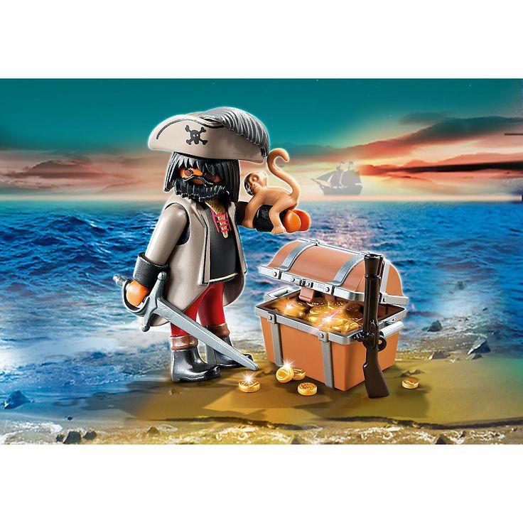 Playmobil Piraci Groźny pirat ze skrzynią skarbów, 4767, klocki