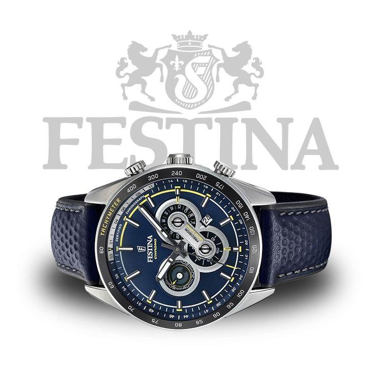 Festina Precision Chrono F20202/2 blaue Herrenuhr mit sportlichem Design  #festina #watch #wristwatch #armbanduhr #herrenuhr #uhr #watches #menstyle #style #luxury #swatch