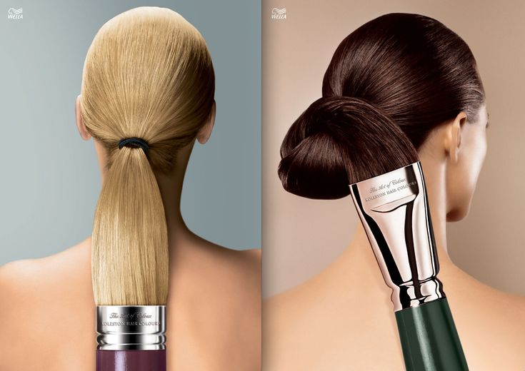 German campaign for Wella hair coloring. Ad agency: Leo Burnett. Art Director: Daniela Ewald.