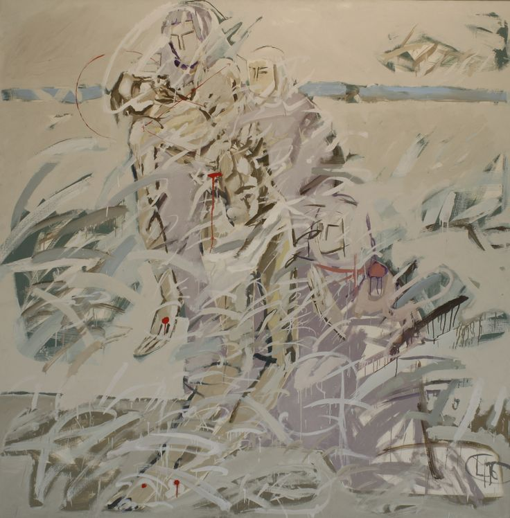 Title: Compozitie I / Size: 200x200cm / Style: Oil on Canvas / year: 1996