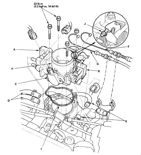 honda civic engine diagram 2005