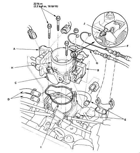 honda civic engine diagram 2005