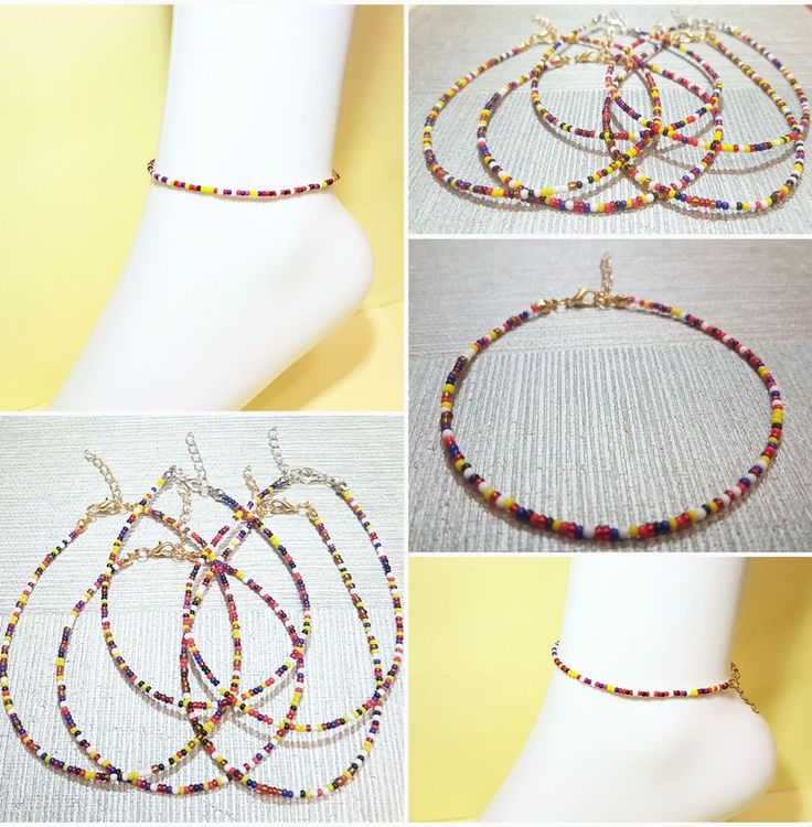 Multi Coloured Seed Bead foot Anklet beach holiday barefoot jewellery | Jewellery & Watches, Costume Jewellery, Anklets | eBay!