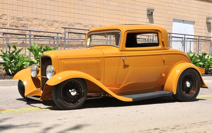 Orange is suppose to be the color for this year. Its working pretty nicely on this early 1930's Ford.: Street Rods, Cars Motorcycles Trucks, Ford 3 Window, 1932 Ford, Hot Rods, Yellow Cars, Three Window, Rodstruckssalt Lakes,  Pickup Trucks