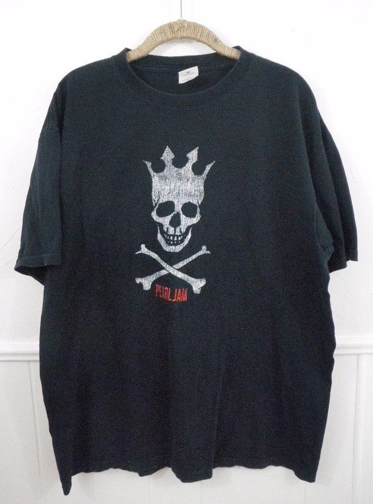 Pearl Jam Tour Concert T-Shirt Riot Act 2003 Pirate King Skull Black XL Anvil #pearljam #riotact #piratekingskull #tshirt #rockshirt
