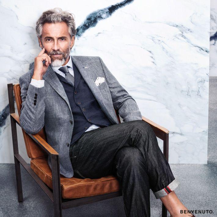 ein legerer mix aus grau und blaut nen f rs b ro herrenmode business modegarhammer anzug. Black Bedroom Furniture Sets. Home Design Ideas