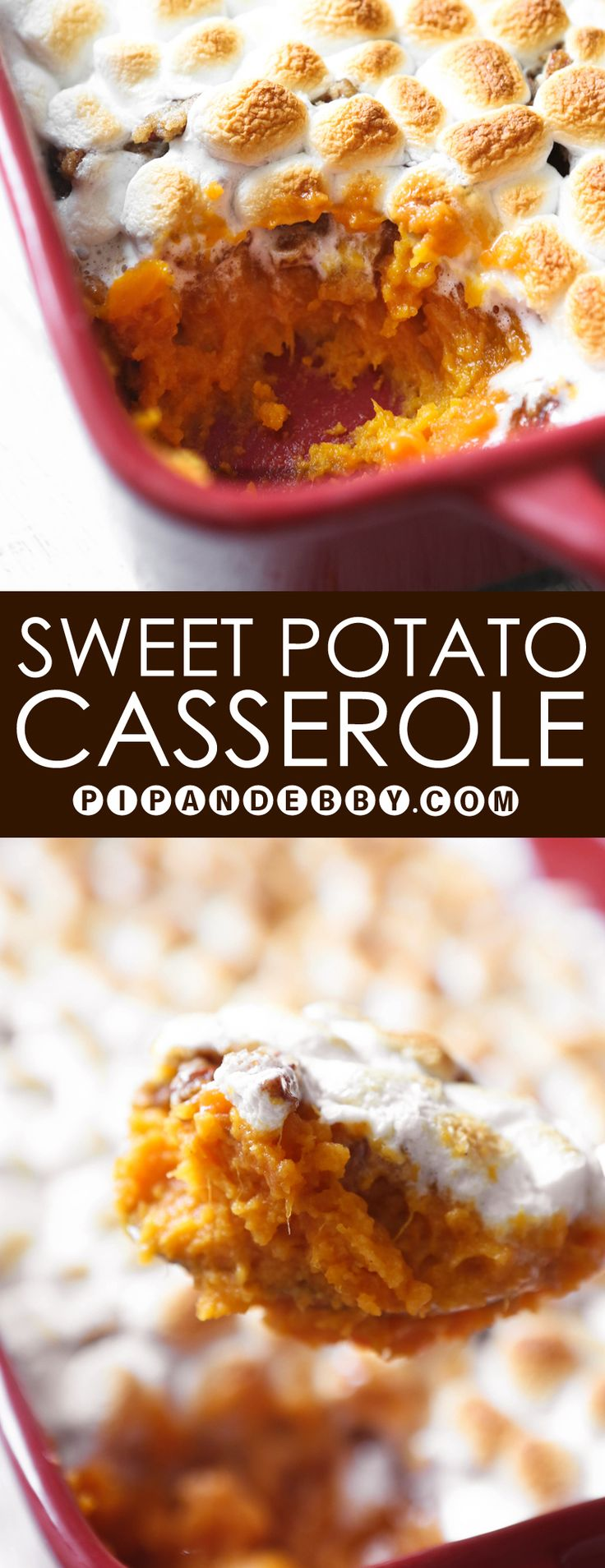 Sweet Potato Casserole   This side dish is SO YUMMY and is sure to please everyone, kids and adults alike.