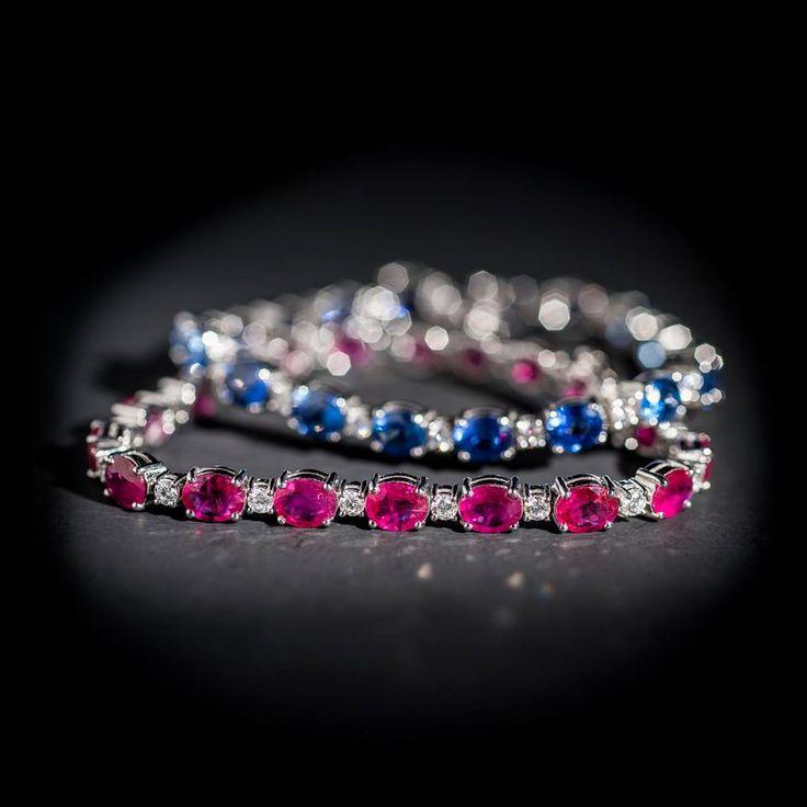 """""""Il baciamano ti fa sentire in gran forma, ma un braccialetto di diamanti e zaffiri dura per sempre."""" Preziosi Palumbo & Gigante"""