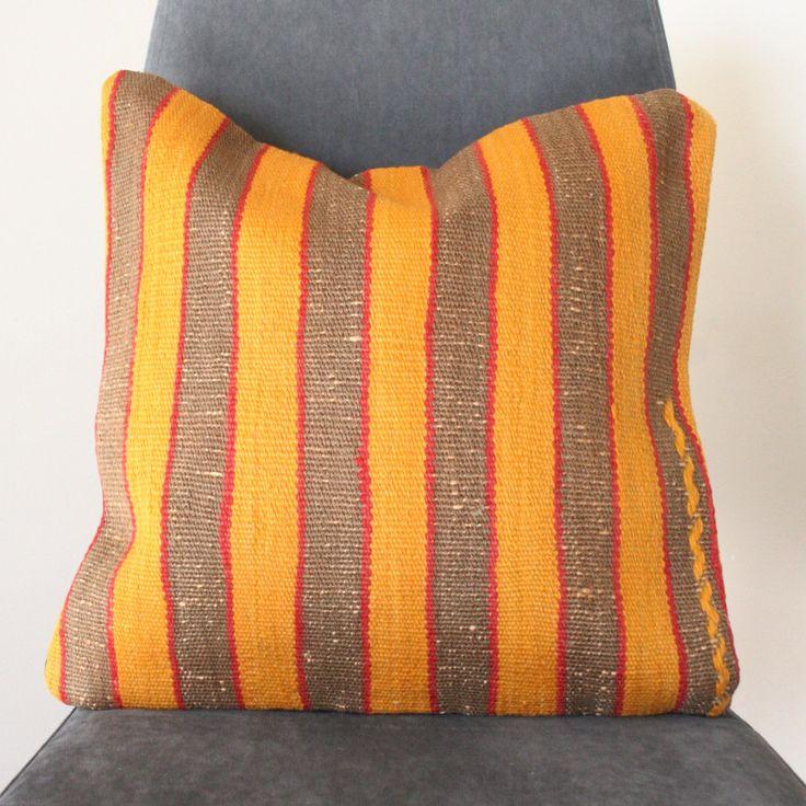 Vintage Stripes Handwoven Kilim Cushion