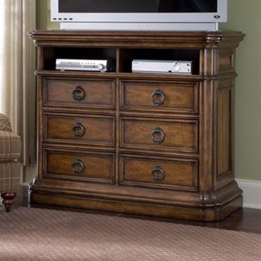 Pulaski San Mateo Media Chest - 662145 by Pulaski. $1226.00. (6) Drawers. Antique Brass finished hardware. (2) Open compartments. San Mateo Media Chest. Save 22% Off!
