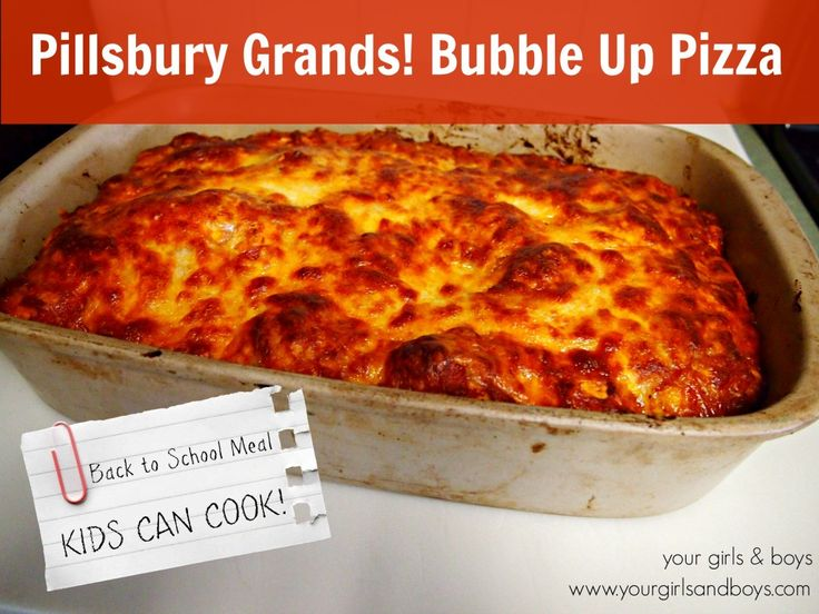 Kids Cooking! Bubble Up Pizza