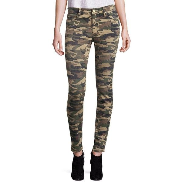 True Religion Halle Camo Super Skinny Jeans (560 NOK) ❤ liked on Polyvore featuring jeans, camo jeans, camouflage skinny jeans, skinny fit jeans, camoflage jeans and zipper skinny jeans