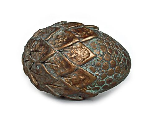 """Ancient Metals"" Brass Half Scale Dragon Egg"