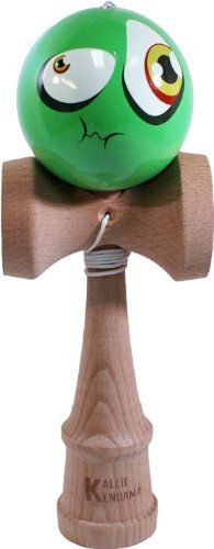 Kaleb Kendama With Green Sour Face Ball And Extra String Kaleb USA http://www.amazon.com/dp/B006F3HBDU/ref=cm_sw_r_pi_dp_57WLtb1EDZ249RW1