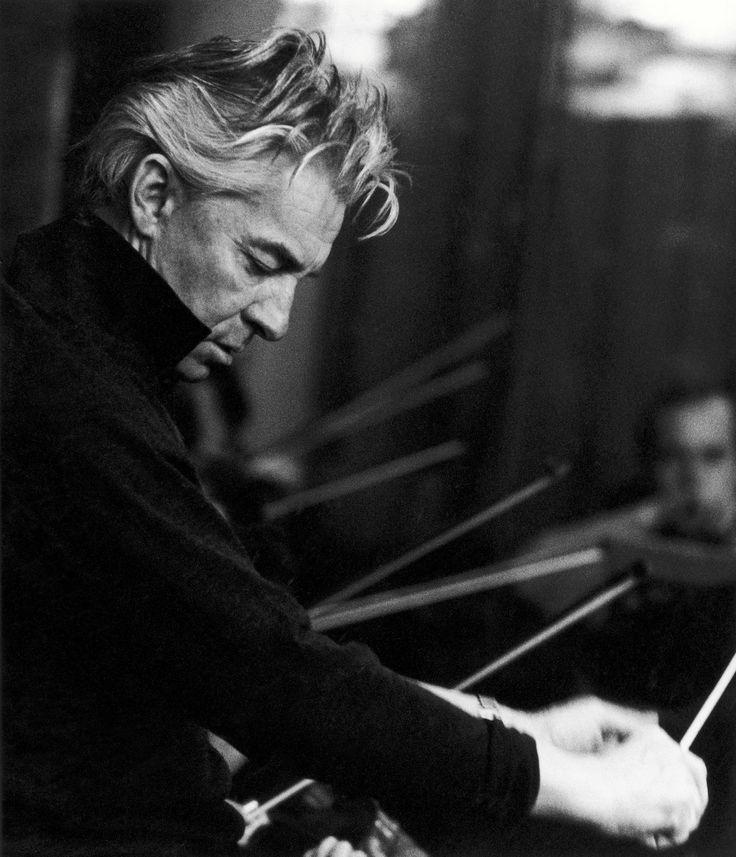 Photograph of Herbert von Karajan, by Siegfried Lauterwasser.