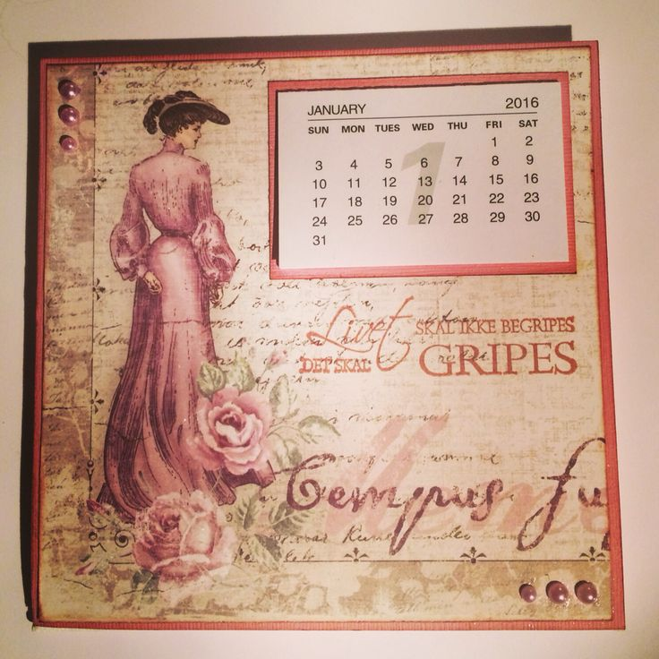 Kalender på lerret 15x15