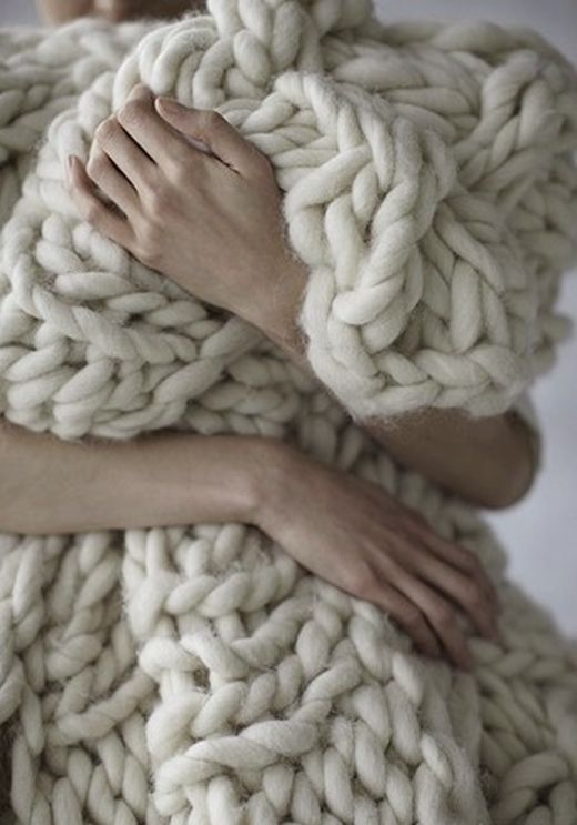 soft, cuddly, cozy...get me a fire and a comfy chair, and i'm there. Kara, is this knitted or crocheted?