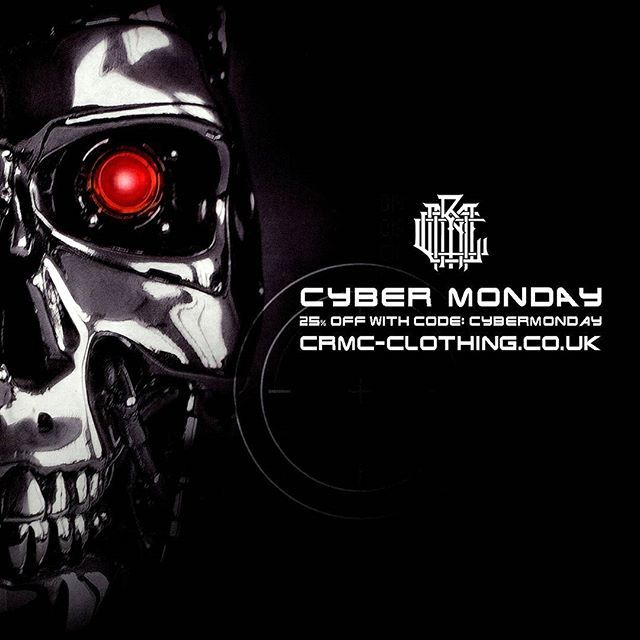 Missed our Black Friday discount? Fear not! 👽 CRMC CYBER MONDAY DISCOUNT 👽 Further reductions on many items at www.crmc-clothing.co.uk | WE SHIP WORLDWIDE 🔥 USE DISCOUNT CODE - CYBERMONDAY - FOR 25% OFF YOUR FULL ORDER 🔥#cybermonday #cybermonday2016 #cybermondaysale #cybermondaydeals #cybermondayshopping #discounts #sale #robocop #discount #yourmovecreep #robocop2 #alternativegirl #alternativeboy #alternativeteen #blackwear #fashionstatement #altfashion #black