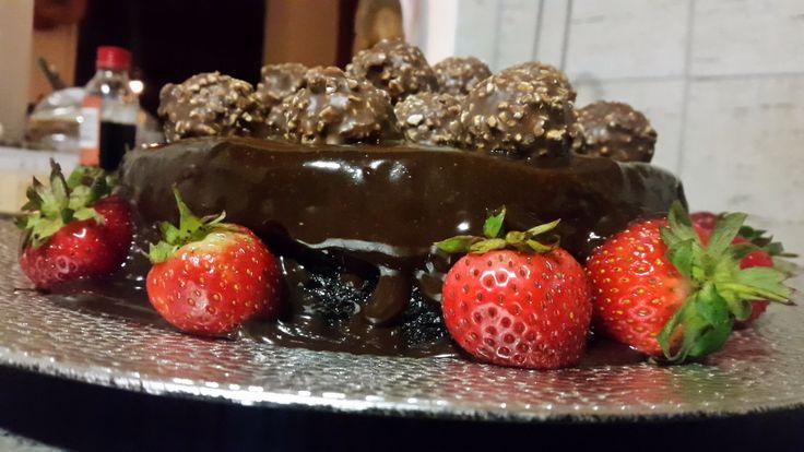 Double chocolate ganache Ferrero Rocher cake by So'Licious Cakery
