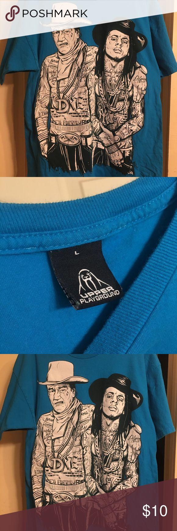 Men's John Wayne/Lil Wayne T-Shirt - Large Pre-owned T-shirt - great condition. upper playground Shirts Tees - Short Sleeve