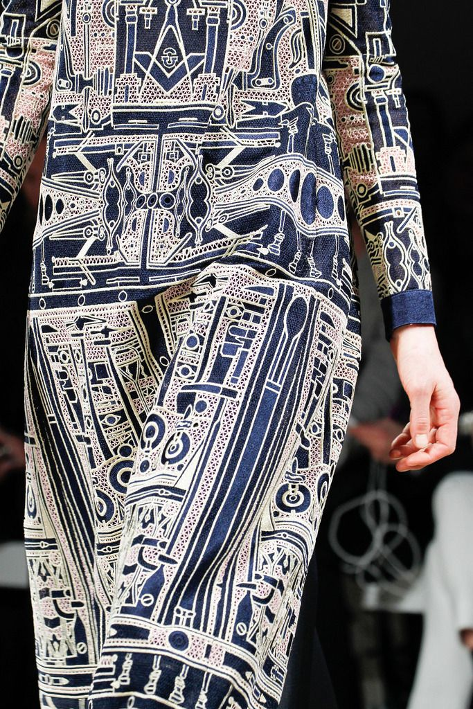 Blue pattern | Mary Katrantzou Fall 2014