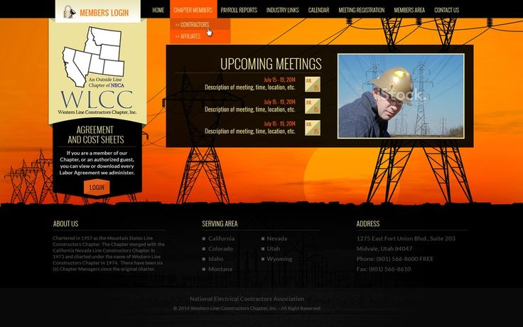 Website design for a chapter of National Electrical Contractors Association (NECA) by GusDwi_77