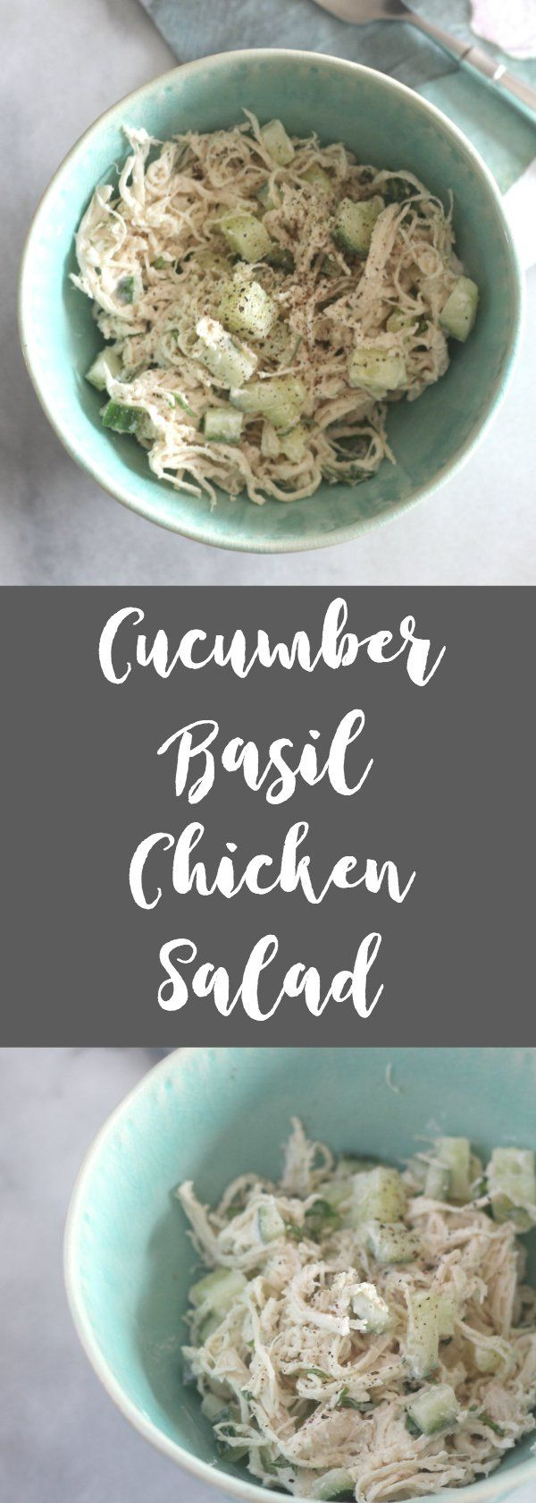 This cucumber basil chicken salad recipe is just slightly creamy and tangy. The … – Low Carb Lunch